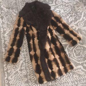 Genuine rabbit fur coat
